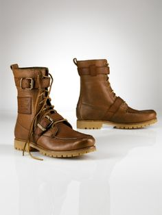 Polo Ralph Lauren  Radbourne Tumbled Leather Boot... No man should ever wear running shoes outside of the gym.