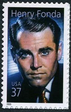 Stamp: Henry Fonda (United States of America) (Legends of Hollywood) Mi:US…