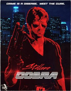 Amazing alternative to Stallone's Cobra movie poster. -Watch Free Latest Movies Online on 80s Posters, Best Movie Posters, Movie Poster Art, Poster On, Poster Wall, Neon Artwork, Modern Artwork, Movies And Series, Hd Movies