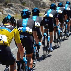 Team Sky with Chris Froome in yellow