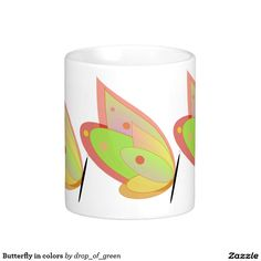 Butterfly in colors #coffee #mug. #zazzle http://www.zazzle.com/butterfly_in_colors_coffee_mug-168993261360850444