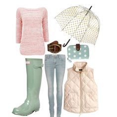 """""""Rainy day, hold the blues"""" by prep-and-whimsy on Polyvore"""