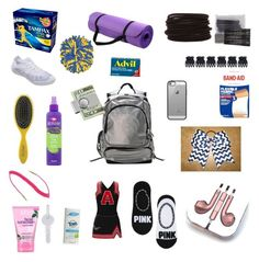 """""""What's in my cheer bag"""" Sporty Girls, Gym Girls, Cheerleading Makeup, Track Bag, Cheer Practice Outfits, Organizing Bags, Cheer Backpack, Cheer Tips, Cheer Funny"""