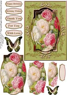 Cardtopper so in love with roses 299 on Craftsuprint - View Now!
