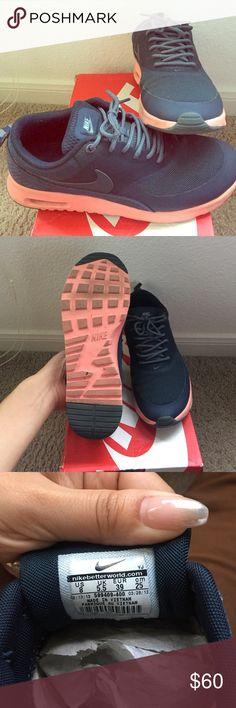 Nike Air Max Thea Sportswear Sneaker .. Navy/Pink .. Original Box Included Nike Shoes Sneakers