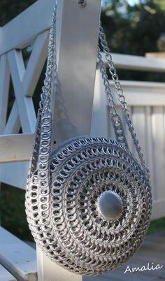 PÁNTMEGOLDÁS!!! bolso con anillas y fondo de lata