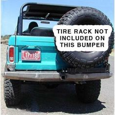 How long have you looked for a great looking set of bumpers for your Early Bronco? Try out these bumpers for size.rock-bash-able.and allowing you to mount up a winch, these bumpers are exactly what you need to . Tire Rack, Early Bronco, Jeep Parts, Ford Bronco, Jeep Cherokee, 4x4, Monster Trucks, Offroad, Camping