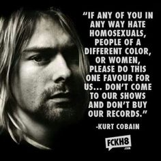 Kurt Cobain from Nirvana. one of the many reasons why I love nirvana. Kurt Cobain Frases, Nirvana Kurt Cobain, Martin Guitars, Dave Matthews Band, Rock Chic, Kurt Cobian, Nirvana Quotes, Rock And Roll, Rock Bands