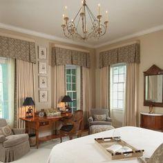 Niermann Weeks  Rivoli Chandelier hangs in this bedroom designed by Knight Carr. niermannweeks.com #NiermannWeeks