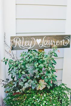 #calligraphy, #signs, #potted-plants  Photography: onelove photography - onelove-photo.com  Read More: http://www.stylemepretty.com/2013/10/03/classic-backyard-wedding-from-onelove-photography/