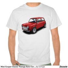 """11/12/2015 another shirt sells! Mini Cooper Classic Vintage Auto Car 1969 """"Mini Ca Tees"""