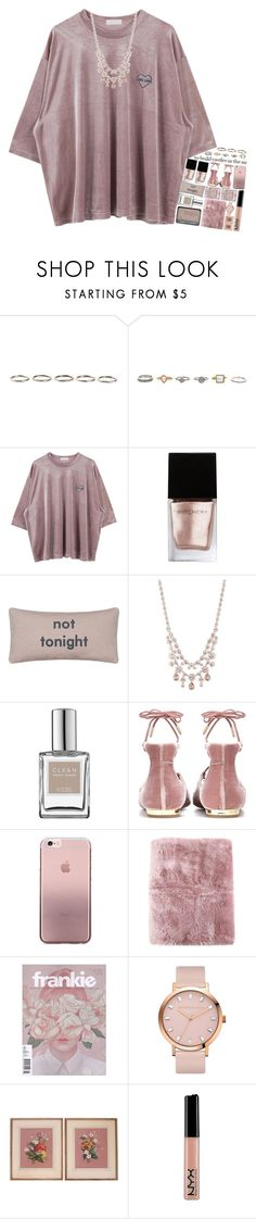 """5042"" by tiffanyelinor ❤ liked on Polyvore featuring Henson, Witchery, Givenchy, CLEAN, Aquazzura, Schutz, La Perla and NYX"