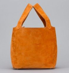 Hermes Orange Suede Picotin Bag