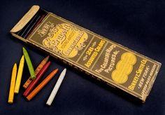 Original Crayola Crayons 28-piece set, 1903 via @National Museum of American History, Smithsonian