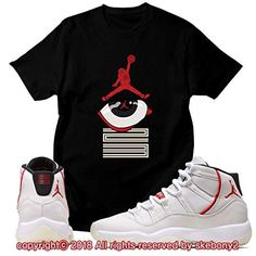 9ad97c574c7d Custom T Shirt Matching Style of Air Jordan 11 Platinum Tint JD 11-4-