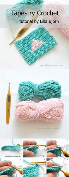 How to do Tapestry Crochet. A very easy to follow tutorial by Lilla Bjorn. It includes written instructions, chart and step-by-step pictures.