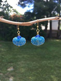 Seashell Earrings for the Beach Summer Jewelry #beach #summer #shell