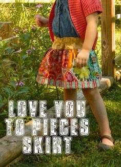 Great Tutorial on patchwork skirt