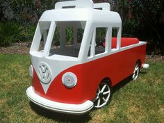 A kombi double cab peddle car i made for my son