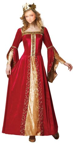 3b8852e123ea Dress up for the Renaissance Fair in our red velour Renaissance Queen  costume from Candy Apple Costume.
