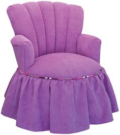 Custom Purple Child Princess Chair