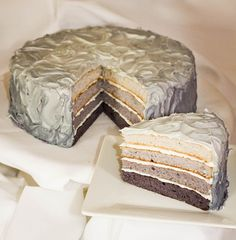Ombre gray cake - 50 shades of grey book club party
