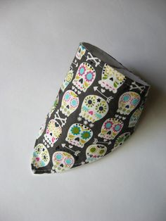 Baby Bandana Bib, Dribble Bib, Sugar Skull Dribble Bib, Day of the Dead Dribble Bib, Sugar Skull Bandana, Baby Bandana, Baby Shower