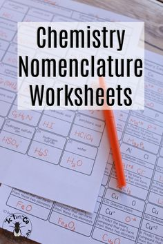 These nomenclature homework pages help students practice identifying chemical formulas, identifying names, and all of the skills they need in between! Chemistry Help, Chemistry Worksheets, Chemistry Classroom, High School Chemistry, Chemistry Lessons, Chemistry Notes, Teaching Chemistry, Science Chemistry, High School Science