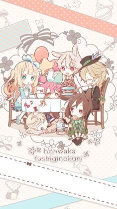 ( Alice in wonderland ) Kawaii Anime Girl, Kawaii Chibi, Cute Animal Drawings Kawaii, Kawaii Drawings, Cute Drawings, Arte Do Kawaii, Kawaii Art, Manga Anime, Anime Art