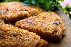 This savory pan-fried noodle cake made with rice noodles packs a lot of flavor with just a few ingredients, ideal for a quick breakfast or lunch The mixture can be assembled well in advance It's more steamed than fried, but a crisp bottom is revealed when the cake is flipped