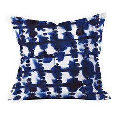 DENY Designs Parallel Indigo Throw Pillow | Fab