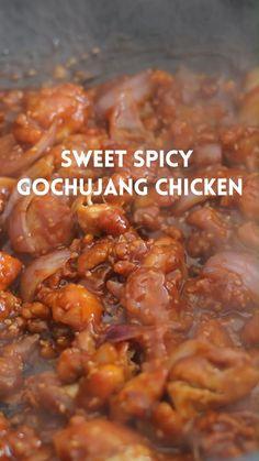 Indian Food Recipes, Asian Recipes, Healthy Recipes, Sweet And Spicy Chicken, Spicy Chicken Recipes, Tandoori Masala, Chicken Bites, Crispy Chicken, Gochujang Chicken Recipe