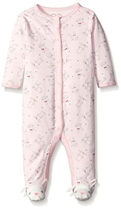 The Childrens Place Baby Bunny Printed Sleep N Play Shell Pink 03 Months