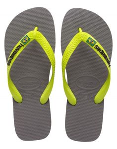 These are perfect for beach day or vacation! Shop today! Havaianas BRAZIL LOGO Grey/Lime Green Flip Flop @www.flopstore.com https://www.flopstore.com/com_english/havaianas-brazil-logo-grey-lime-green-flip-flop.html