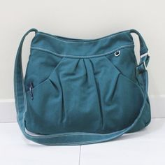 ---------------------------------------------------- PLEATED HOODIE MARKET BAG ----------------------------------------------------  This Market Bag is made from DARK TEAL CANVAS COTTON, it is fully l