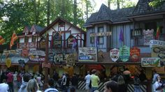 Food court at the Maryland Renaissance Festival.