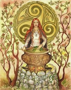 Armid goddess of herbalism. When her brother was killed every medicinal herb in existence came out of his grave and she spent her grieving time documenting all of them. When her father found out he scattered her encyclopaedia to the far reaches of the earth so no one would know all the herbs and/or their medicinal properties.