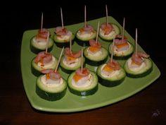 Bouchées fraîcheur de courgette, surimi et crevette