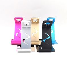 Fashion Universal Aluminum Metal Mobile Phone Desk Holder Case Samrtphone Watch Tablet Computer Car Ajustable Stand Support