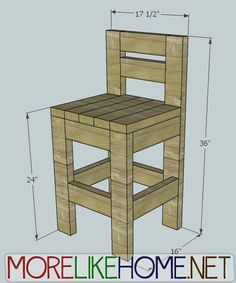 More Like Home: Day 23 - Build a Chunky Bar Stool, less than $10 per stool. Would work great outside.