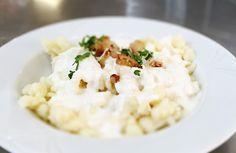 Denné menu Vranov |  Bryndzové halušky s opečenou slaninou, acidofilné mlieko - reštaurácia Hotel Patriot*** #hotel #restaurant #food #lunch