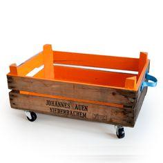 Aufbewahrungsbox Orange von I am Recycled auf DaWanda.com