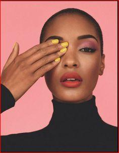 yellow nail | bright colour | jourdan dunn