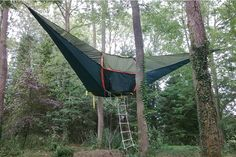 It's like a hammock...but it's the size of a tent.