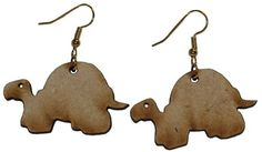 Turtle earrings with 1 inch wooden beads- gold plated EP Laser http://www.amazon.com/dp/B00FEPL4BK/ref=cm_sw_r_pi_dp_WJzawb1KY53B4