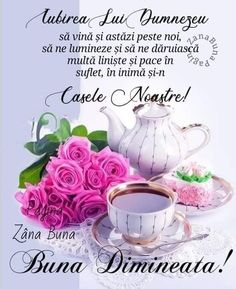 Good Morning, Tea Cups, Night, Tableware, Quotes, Beauty, Food, Bom Dia, Quotations
