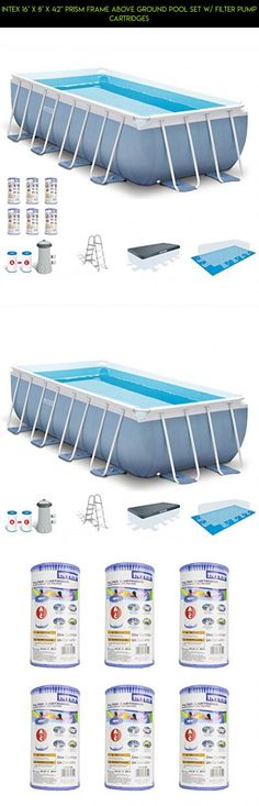 """Intex 16' x 8' x 42"""" Prism Frame Above Ground Pool Set w/ Filter Pump Cartridges #shopping #gadgets #inch #parts #camera #42 #racing #pools #drone #technology #kit #fpv #products #plans #tech"""