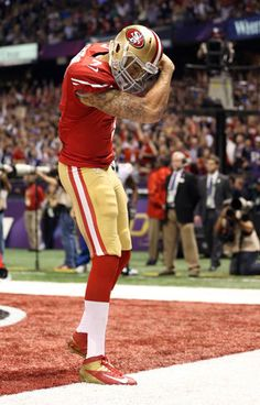 """Jim Harbaugh is worried that Colin Kaepernick might get too muscle-bound"" Yahoo! Sports (March 22, 2013)"