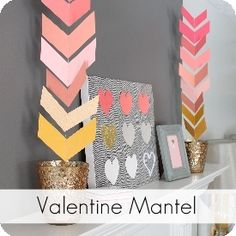 My Sister's Suitcase: Chevron Paper Garland. I don't decorate for valentines day but this would be cute in others colors for other times.