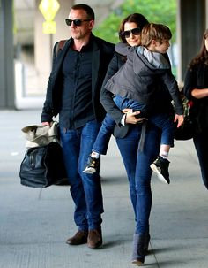 Daniel Craig and family. (the part of cathy will be played by Rachel!)